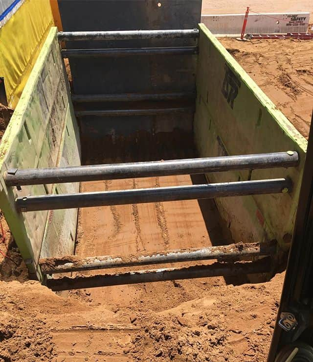A job done at LAX recently for one of our customers. Steel trench box with plates on the end. Came out perfectly!