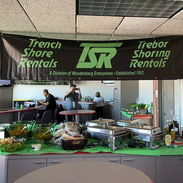 TSR Arizona and California comes together to host the Autoclub Speedway 400 this weekend. Lots of food, drinks, fun, and great company. #autoclubspeedway #nascar #tsr #treborshoringrentals #trenchshorerentals #trenchshoring