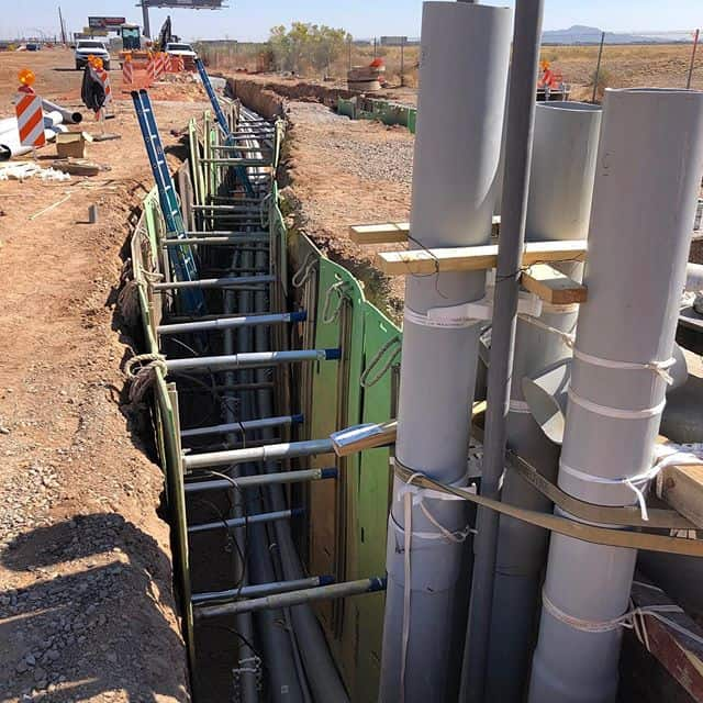 How do you use shoring mats & hydraulic shoring on duct bank work?