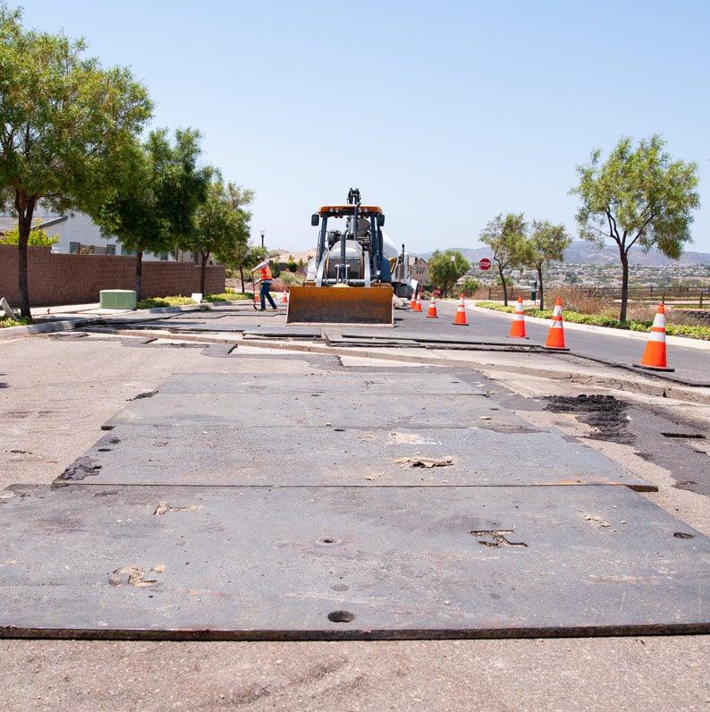 Steel Crossing Road Plates